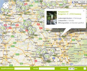 Google Maps Ladestationen